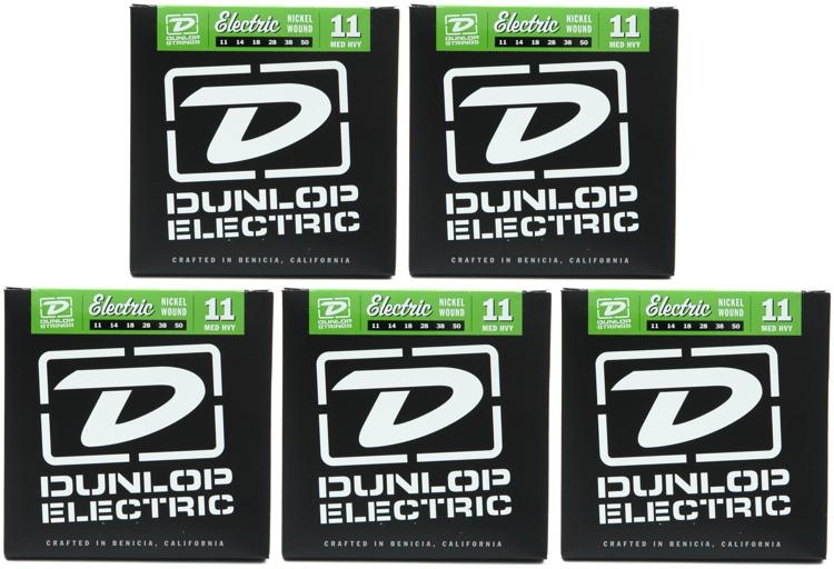 Dunlop DEN1150 Nickel Plated Steel Electric Strings - .011-.050 - 5 Pack image 1