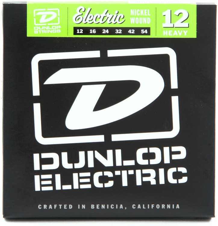 Dunlop DEN1254 Nickel Plated Steel Electric Strings - .012-.054 - Heavy image 1