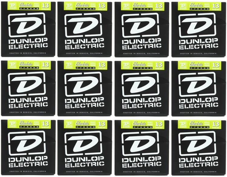 Dunlop DEN1356 Nickel Plated Steel Electric Strings - .013-.056 Extra Heavy 12-Pack image 1