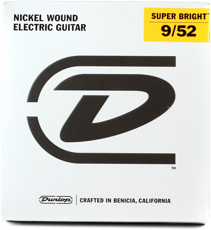 Dunlop Super Bright Electric Strings - .009-.052, Light 7-String image 1