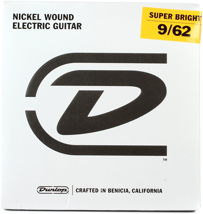 Dunlop Super Bright Electric Strings - .009-.062, Hybrid 7-String image 1