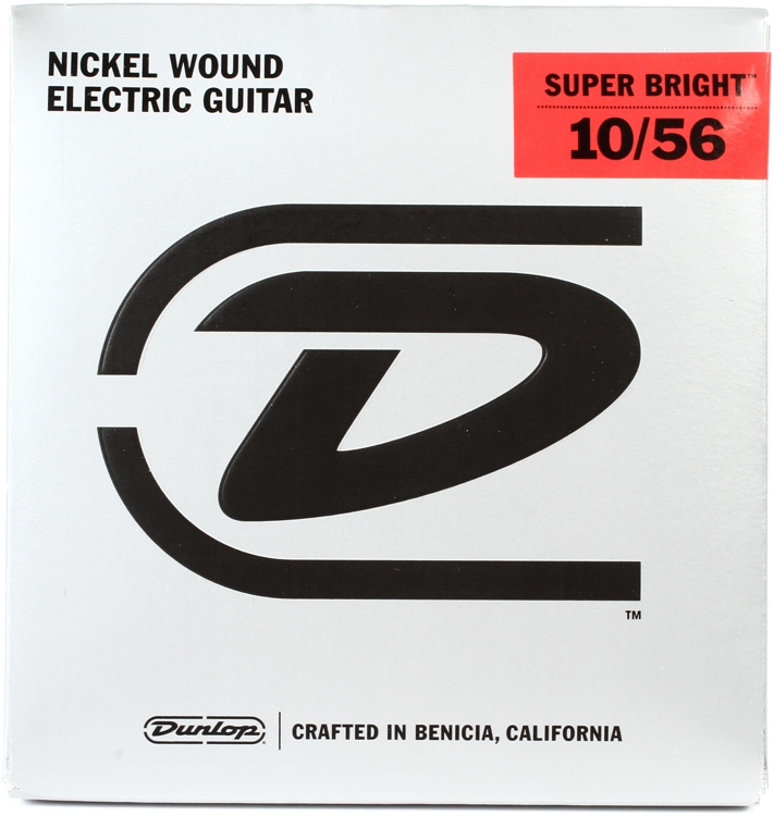 Dunlop Super Bright Electric Strings - .010-.056, Medium 7-String image 1