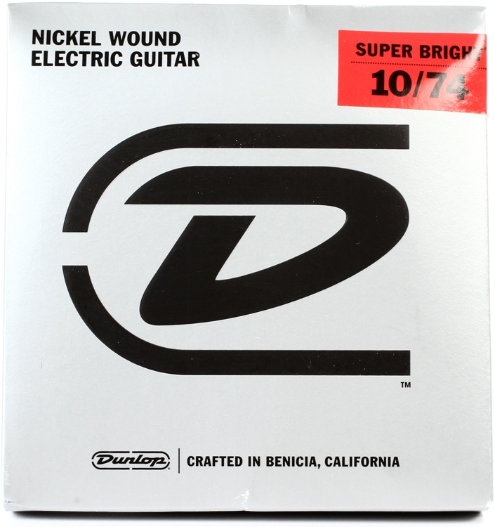 Dunlop Super Bright Electric Strings - .010-.074, Medium 8-String image 1