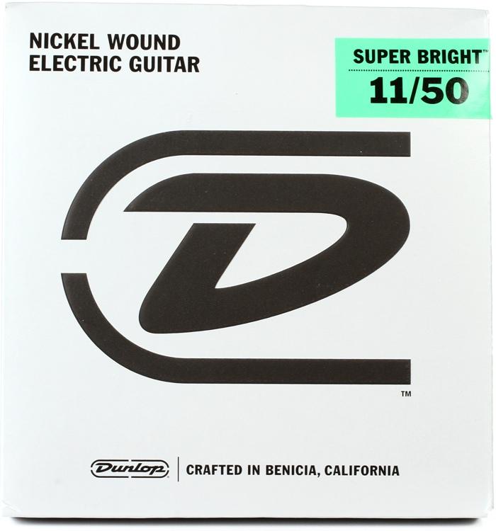 Dunlop Super Bright Electric Strings - .011-.050, Medum Heavy image 1