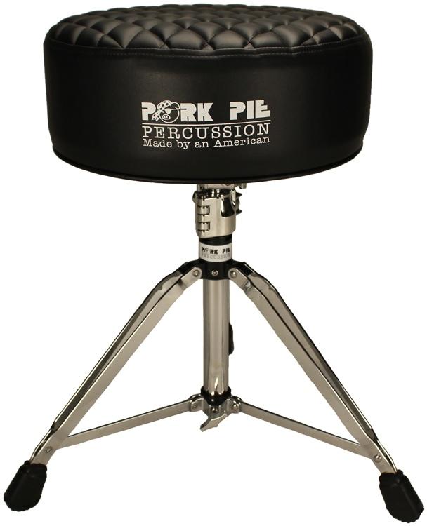 Pork Pie Percussion Deuce Series Round Drum Throne - Black Diamond Tuck image 1