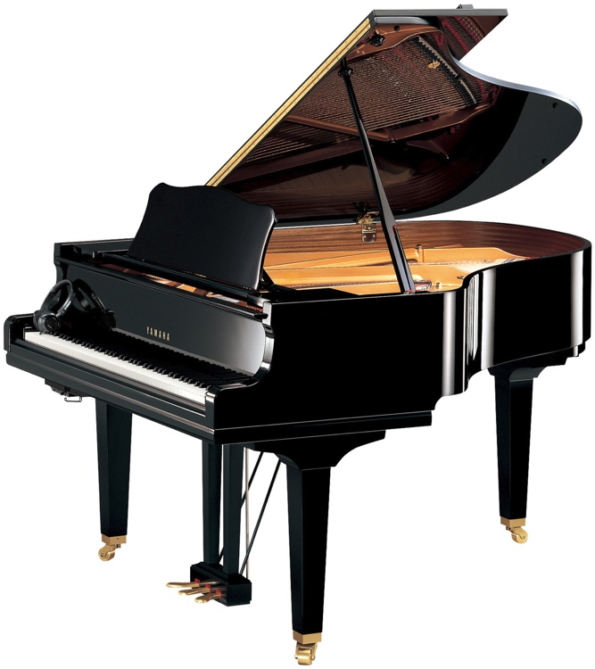 Yamaha dgc2 enst disklavier enspire baby grand piano for How big is a baby grand piano