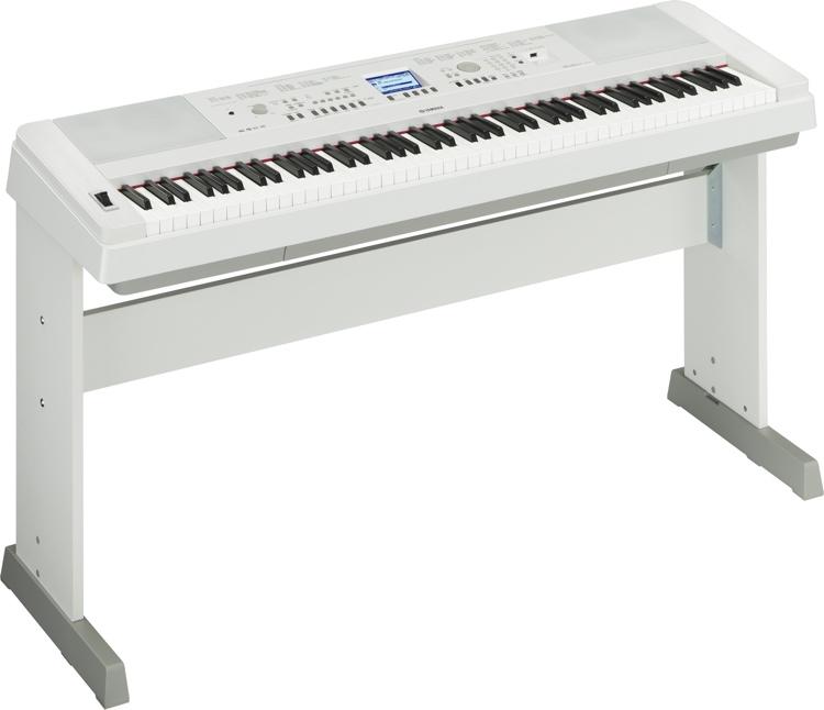 Yamaha DGX650 88-key Arranger Piano with Stand - Spotlight White image 1