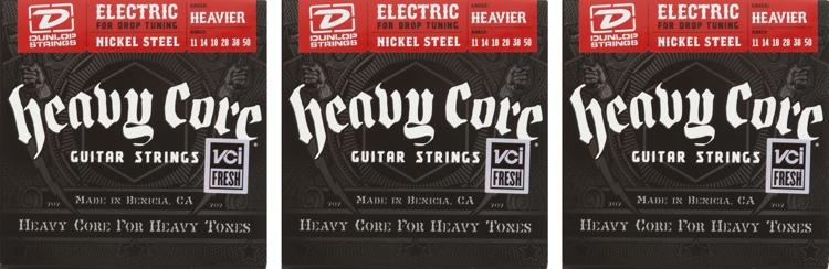 Dunlop DHCN1150 Heavy Core NPS Electric Strings - .011-.050 - 3 Pack image 1