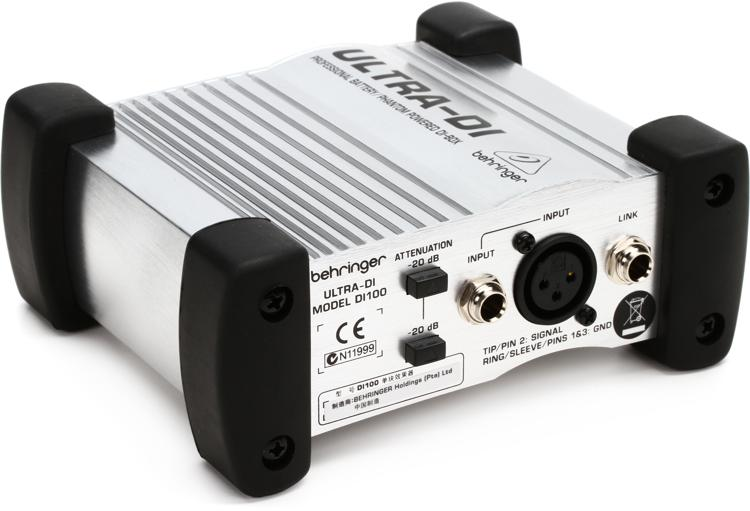 Behringer Ultra-DI DI100 1-channel Active Microphone / Instrument Direct Box image 1