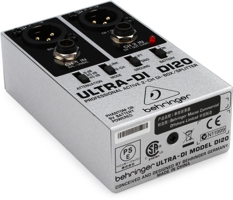 Behringer Ultra-DI DI20 2-channel Active Direct Box / Splitter image 1