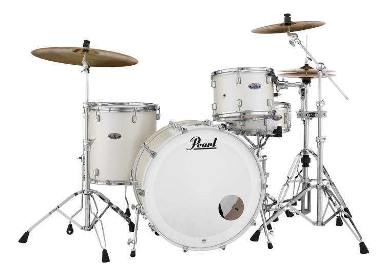 Pearl Decade Maple Shell Pack - 3pc, White Satin Pearl image 1