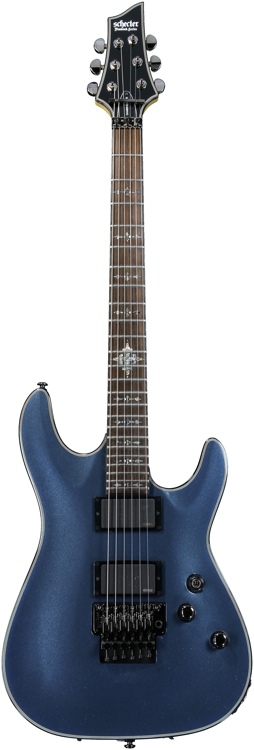 Schecter Damien Elite-6 FR - Dark Metallic Blue image 1