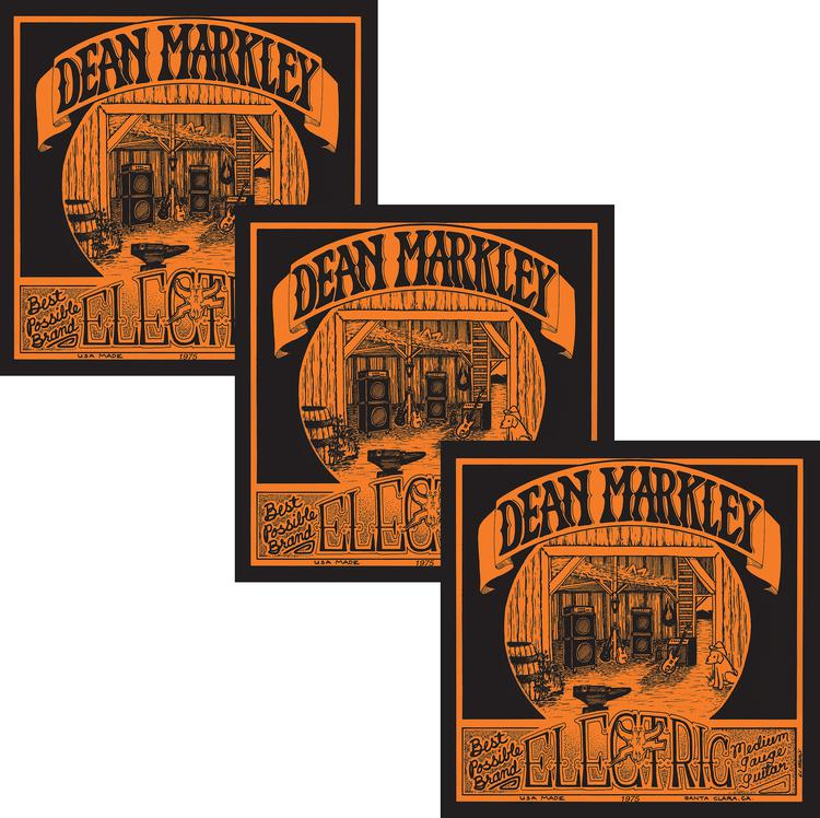 Dean Markley 1975 Vintage Electric Re-Issue Electric Strings - .011-.052 Medium - 3-Pack image 1