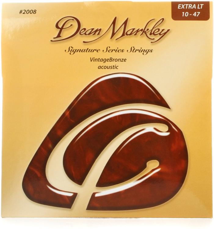 Dean Markley 2008 VintageBronze 85/15 Bronze Extra Light Acoustic Strings image 1