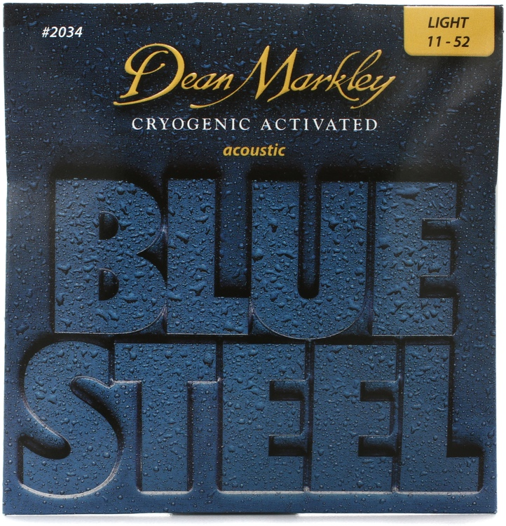 Dean Markley 2034 Blue Steel 92/8 Bronze Cryogentic Activated Light Acoustic Strings image 1