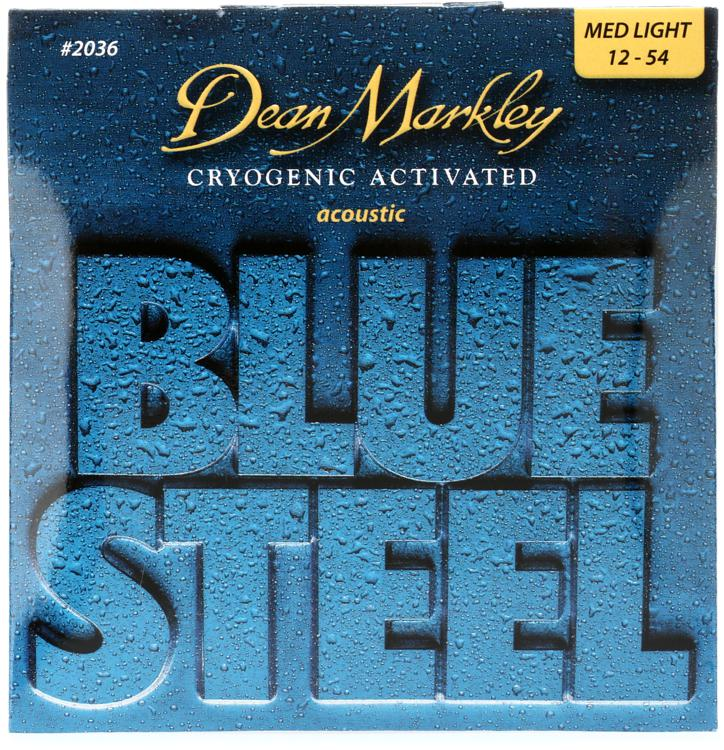 Dean Markley 2036 Blue Steel 92/8 Bronze Cryogentic Activated Medium Light Acoustic Strings image 1