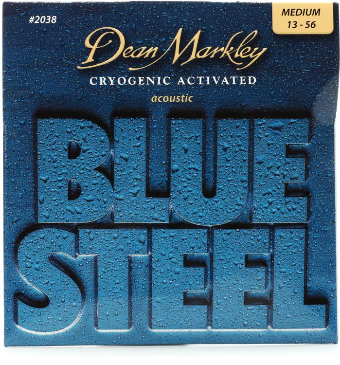 Dean Markley 2038 Blue Steel 92/8 Bronze Cryogentic Activated Medium Acoustic Strings image 1
