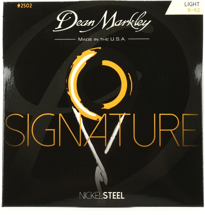 Dean Markley 2502 Nickel Steel Electric Guitar Strings - .009-.042 Light image 1