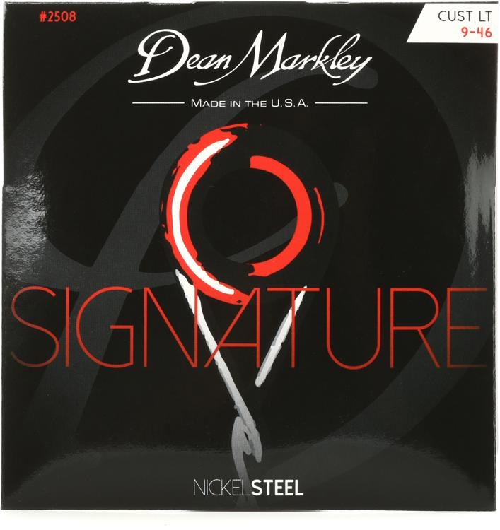 Dean Markley 2508 Nickel Steel Electric Guitar Strings - .009-.046 Custom Light image 1