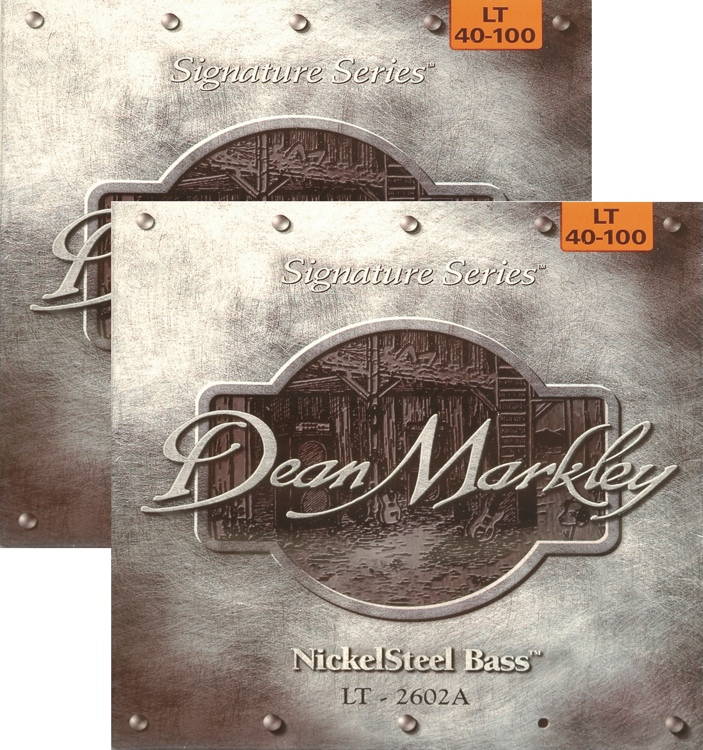 Dean Markley 2602A Nickel Steel Bass Guitar Strings - .040-.100 Light 2-Pack image 1