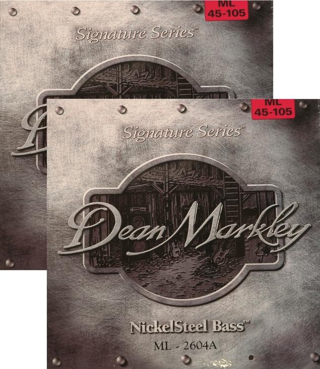 Dean Markley 2604A Nickel Steel Bass Guitar Strings - .045-.105 Medium Lt 2-Pack image 1