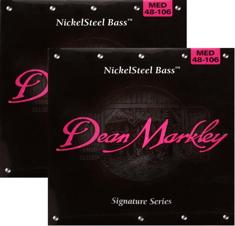 Dean Markley 2606A Nickel Steel Bass Guitar Strings - .048-.106 Medium 2-Pack image 1