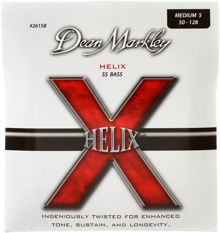 Dean Markley 2615B Helix HD Stainless Steel Bass Strings - .050-.128 Medium, 5-string image 1