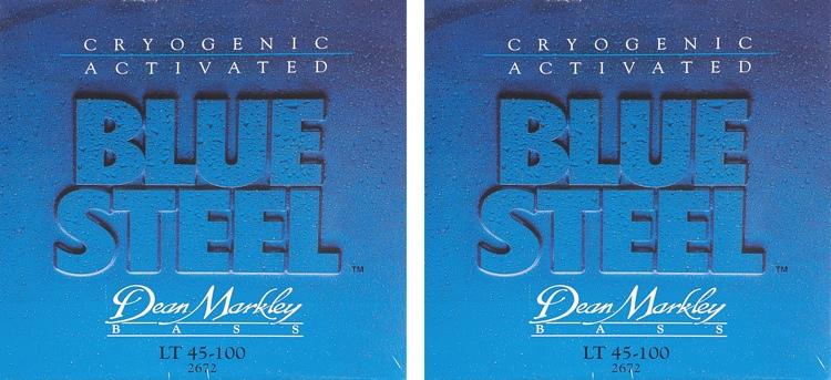 Dean Markley 2672 Blue Steel Bass Guitar Strings - .045-.100 - 2 Pack image 1