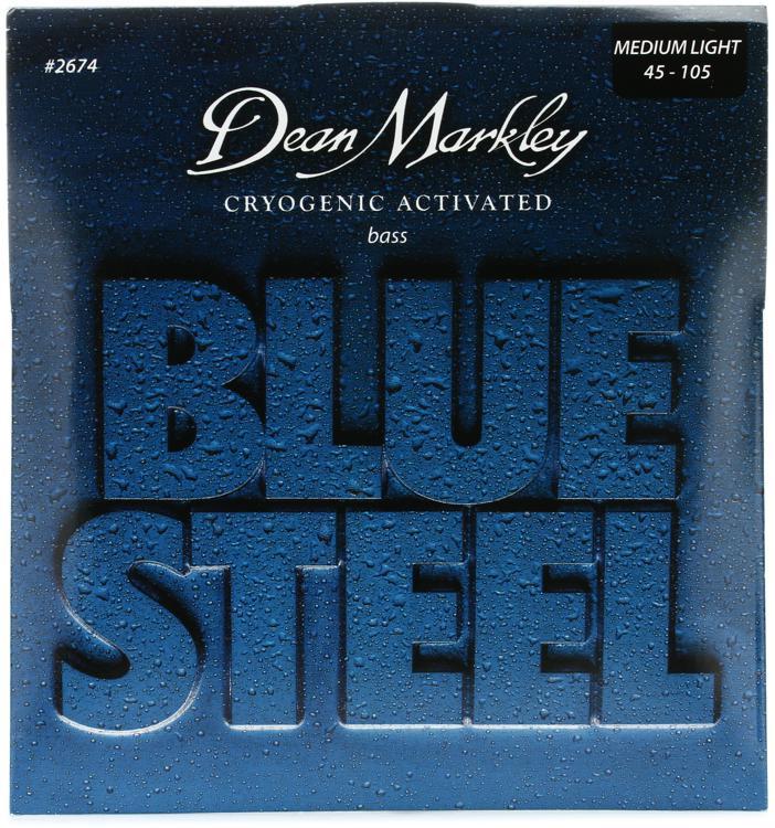 Dean Markley 2674 Blue Steel Bass Guitar Strings - .045-.105 Medium Light image 1