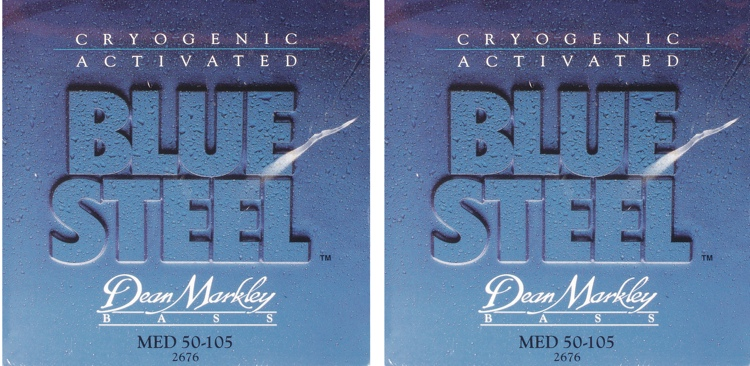 Dean Markley 2676 Blue Steel Bass Guitar Strings - .050-.105 - 2 Pack image 1