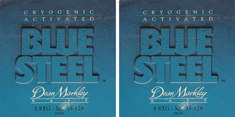 Dean Markley 2679 Blue Steel Bass Guitar Strings - .045-.128 - 5-string 2 Pack image 1