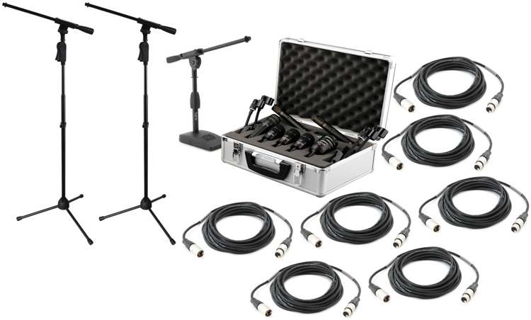 Sweetwater DP7 Drum Mic, Stand, and Cable Bundle image 1