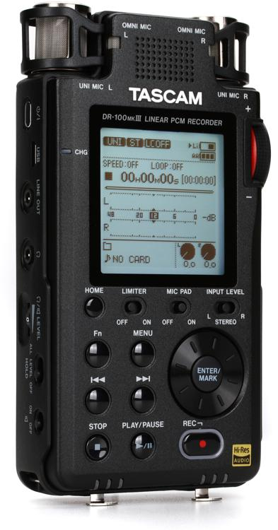 TASCAM DR-100mkIII Handheld Digital Stereo Recorder image 1