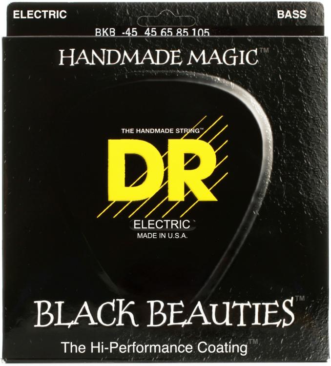 DR Strings BKB-45 Black Beauties Coated Steel Medium Bass Strings image 1