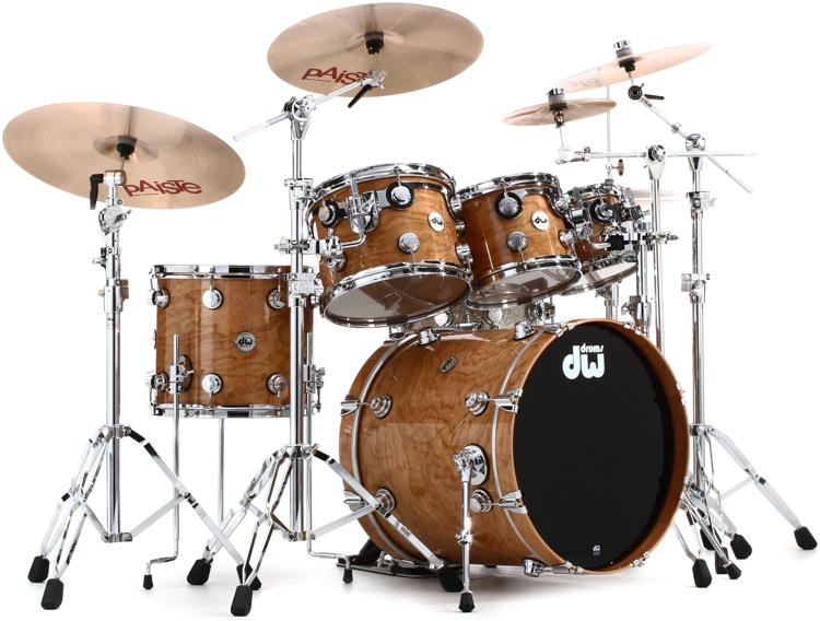 DW Collector\'s Series Lacquer Custom 5-piece Cherry Shell Pack - Natural Lacquer image 1