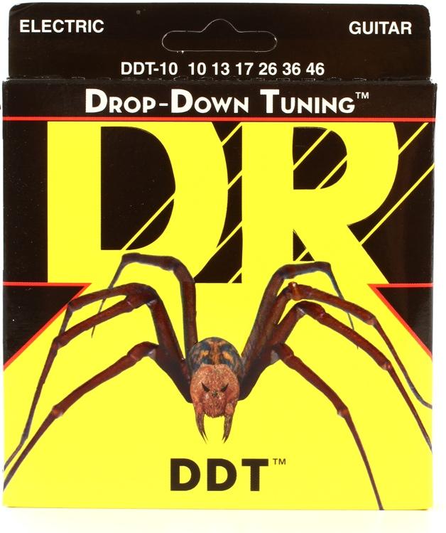 DR Strings DDT-10 Drop-Down Tuning Nickel Plated Steel Medium Electric Guitar Strings image 1