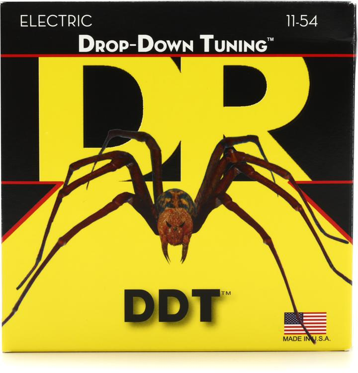 DR Strings DDT-11 Drop-Down Tuning Nickel Plated Steel Extra Heavy Electric Guitar Strings image 1