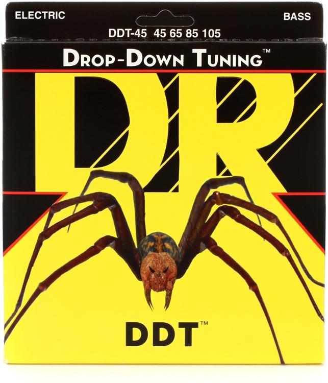 DR Strings DDT-45 Drop-Down Tuning Nickel Plated Steel Medium Bass Strings image 1