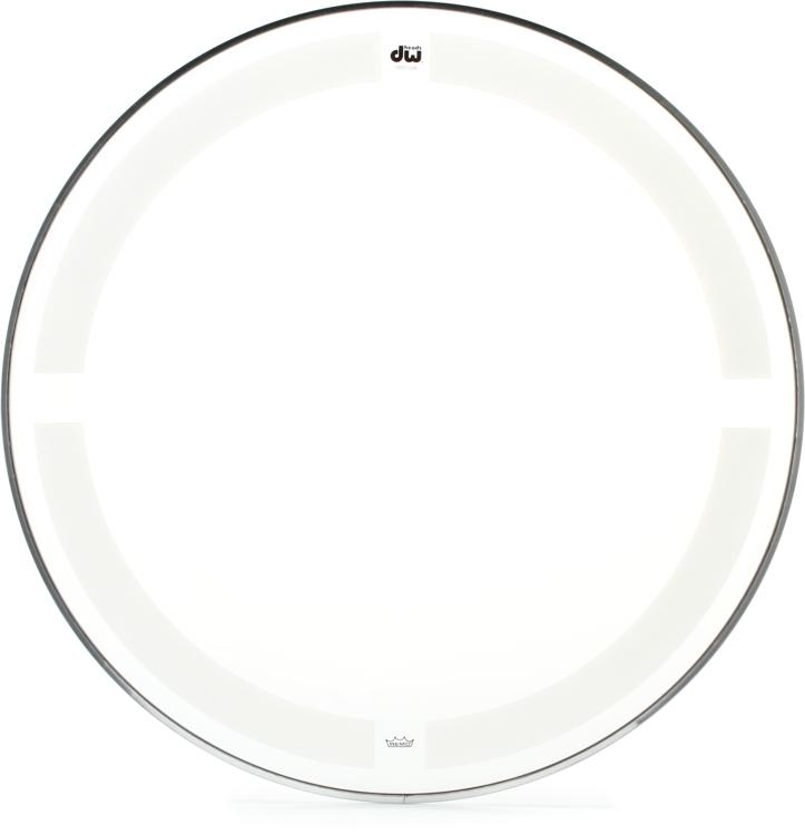 DW Coated/Clear Drumhead - 18