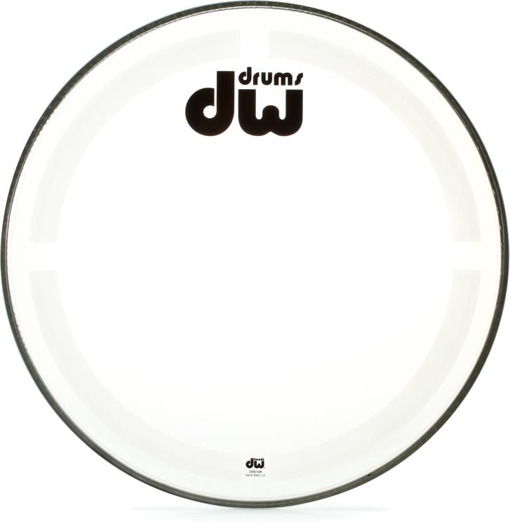 DW Coated/Clear Bass Drumhead - 20