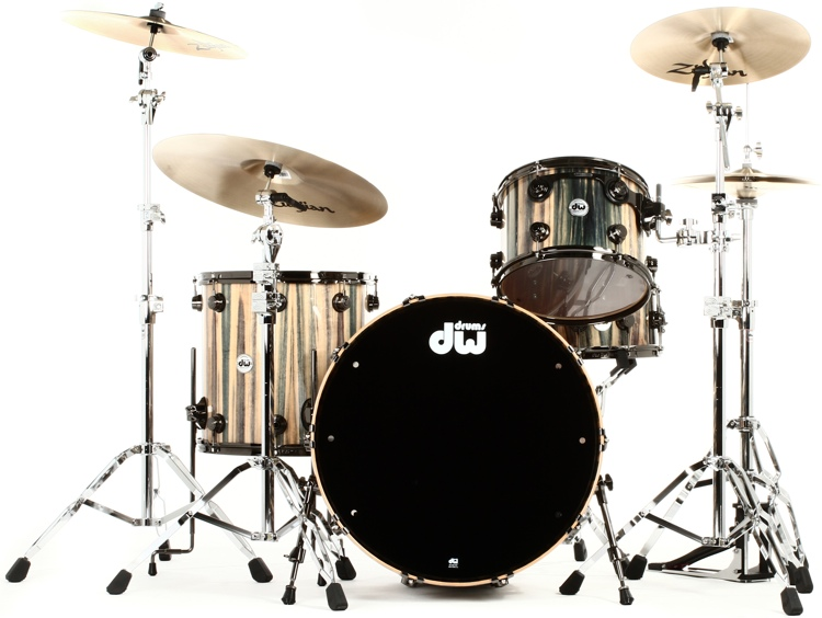 DW Collector\'s Series Exotic Maple/Mahogany Shell Pack - 3-pc - Dragonwood image 1