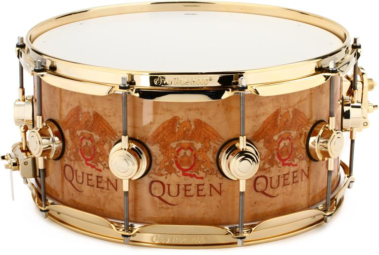 DW Collector\'s Series Icon Snare Drum - Roger Taylor Queen Crest image 1