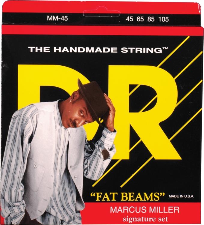 DR Strings MM-45 Fat Beams Stainless Steel Medium Marcus Miller Bass Strings image 1