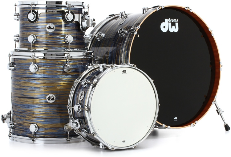 DW Collector\'s Series FinishPly Maple/Mahogany Shell Pack - 4-pc - Peacock Oyster image 1