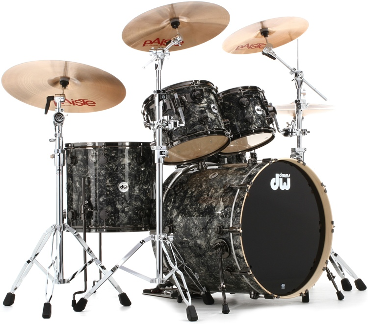 DW Collector\'s Series FinishPly Shell Pack - 5-pc - Silver Abalone image 1