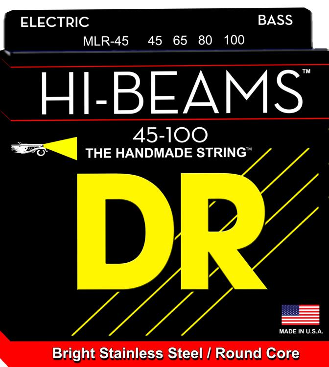 DR Strings MLR-45 Hi-Beam Stainless Steel Medim Light Bass Strings image 1