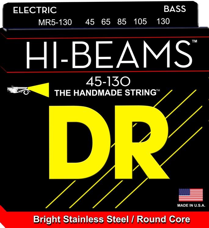 DR Strings MR5-130 Hi-Beam Stainless Steel Medium 5-String Bass Strings image 1