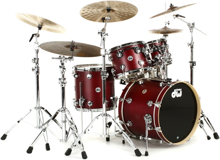 DW Collector\'s Series Satin Oil 4 Piece Shell Pack - Cherry image 1