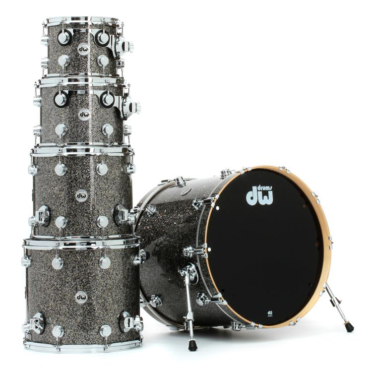 DW Collector\'s Series FinishPly Shell Pack - 5-pc - Black Galaxy image 1