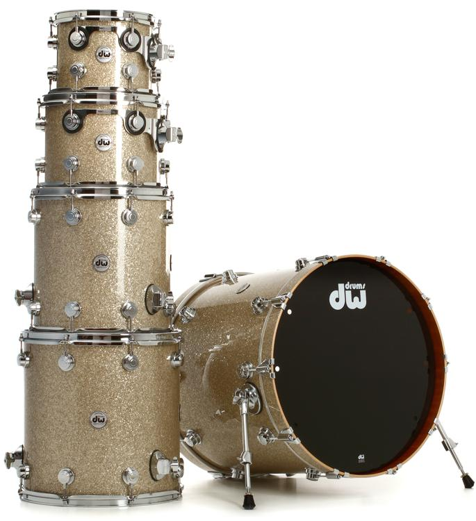 DW Collector\'s Series FinishPly SSC Maple Shell Pack - 5-pc - Broken Glass image 1